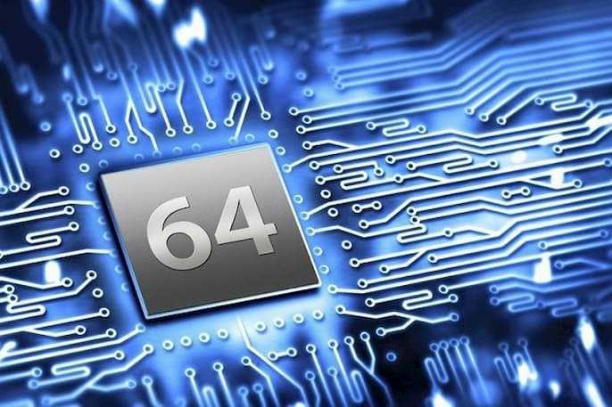 32-bit CPU and a 64-bit CPU