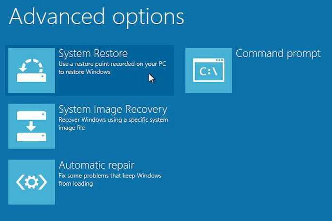 restore Windows step-by-step